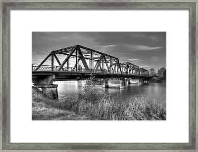 Lincoln Ave. Bridge Framed Print
