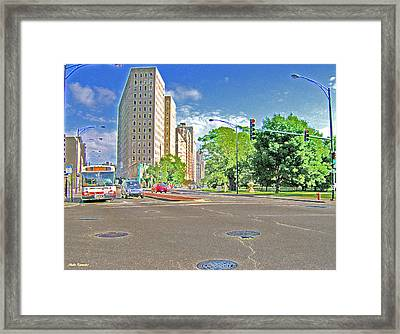 Lincoln Avenue Accented Edges Framed Print by Skyler Tipton