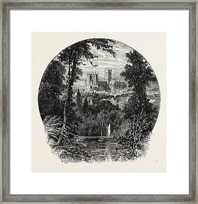 Lincoln Cathedral, From The South-west Framed Print by English School