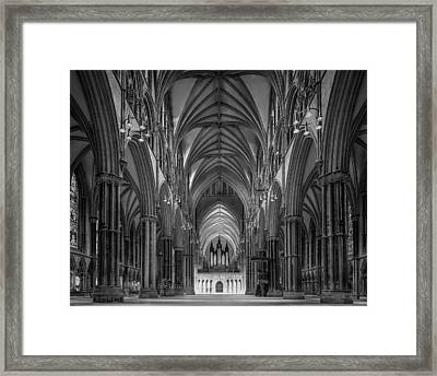 Lincoln Cathedral Nave Framed Print by Ian Barber