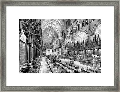 Lincoln Cathedral The Choir I Framed Print