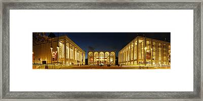 Framed Print featuring the photograph Lincoln Center At Night by Yue Wang