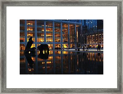 Lincoln Center Gold Framed Print