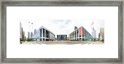 Lincoln Center Nyc Framed Print by Nishanth Gopinathan