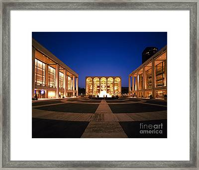 Lincoln Center Framed Print by Rafael Macia