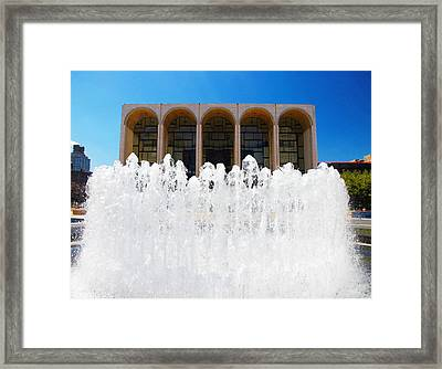 Lincoln Centre Framed Print by Valentino Visentini