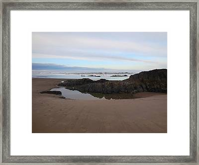 Lincoln City Beach Framed Print by Karen Molenaar Terrell