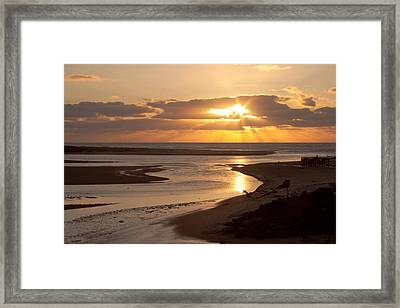 Lincoln City Sunset Framed Print by John Daly