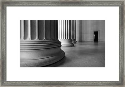 Lincoln Columns Framed Print