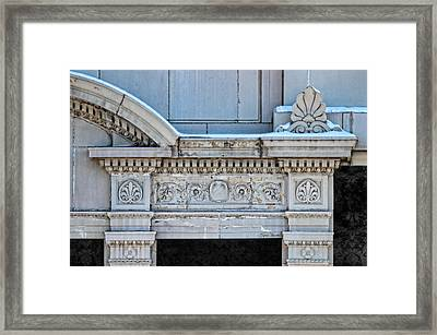Lincoln County Courthouse Door Arch Framed Print