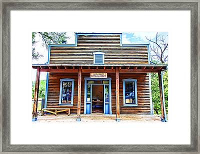 Lincoln County Historical Society Framed Print