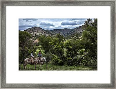 Lincoln Cowboys Framed Print