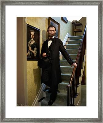 Lincoln Descending Stairs 2 Framed Print by Ray Downing