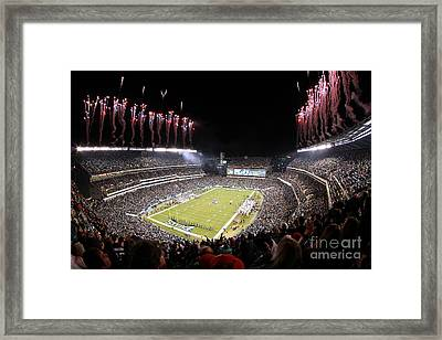Lincoln Financial Field Fire Framed Print by Bryan Maransky