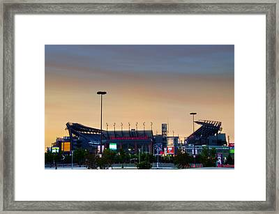 Lincoln Financial Field In A New Light Framed Print by Bill Cannon