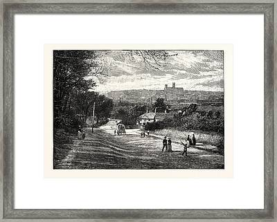 Lincoln, From Canwick, Uk. Lincoln Is A Cathedral City Framed Print by English School