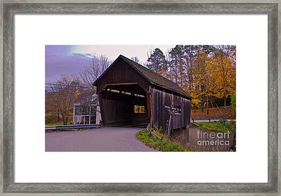 Lincoln Gap Covered Bridge.  Framed Print