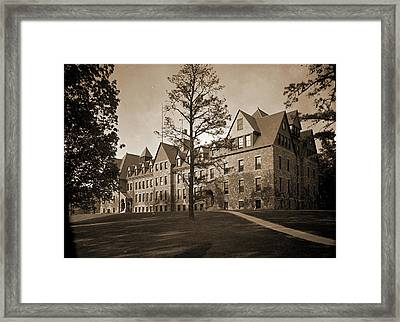 Lincoln Hall, Cornell University, Cornell University Framed Print by Litz Collection