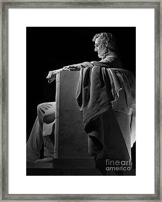 Lincoln In Black And White Framed Print