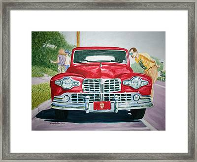 Framed Print featuring the painting Lincoln In Red by Stacy C Bottoms