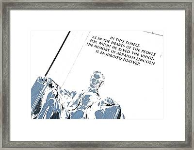 Lincoln In Shades Of Grey Framed Print