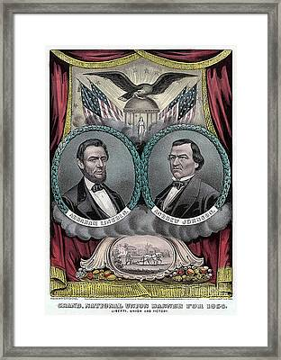 Lincoln Johnson Campaign Poster Framed Print by Marvin Blaine