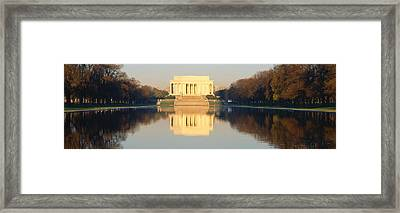 Lincoln Memorial & Reflecting Pool Framed Print by Panoramic Images
