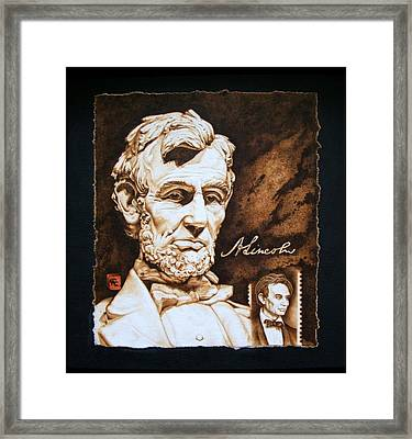 Lincoln Memorial And The Younger Framed Print by Cynthia Adams