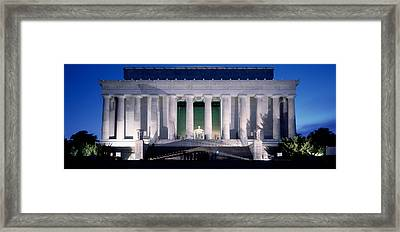 Lincoln Memorial At Dusk, Washington Framed Print
