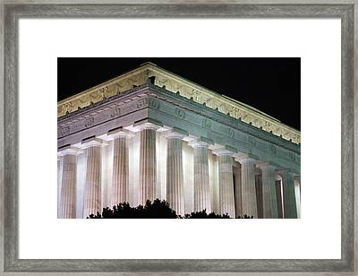 Lincoln Memorial At Night Framed Print
