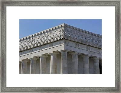 Lincoln Memorial Columns  Framed Print by Susan Candelario