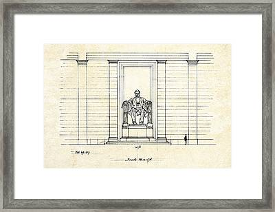 Lincoln Memorial Sketch Framed Print by Gary Bodnar