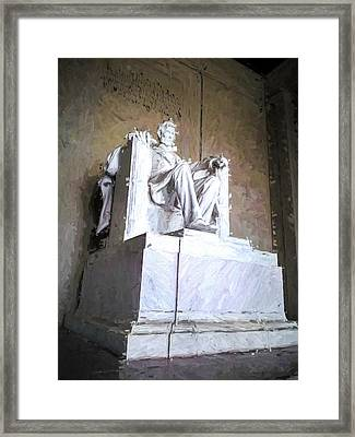 Framed Print featuring the painting Lincoln Memorial by Ike Krieger
