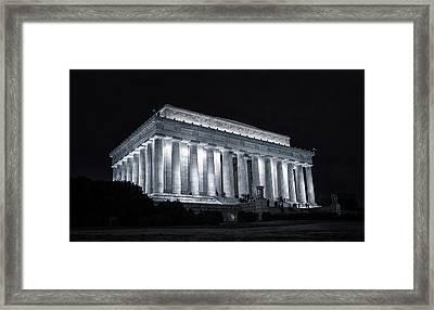 Lincoln Memorial Framed Print by Joan Carroll