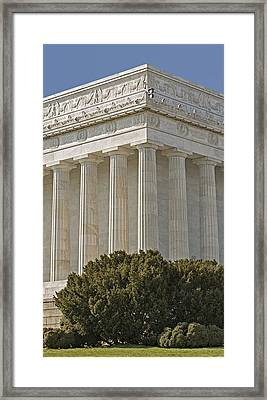 Lincoln Memorial Pillars Framed Print by Susan Candelario