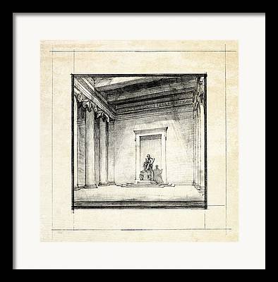 Historic Architecture Drawings Framed Prints