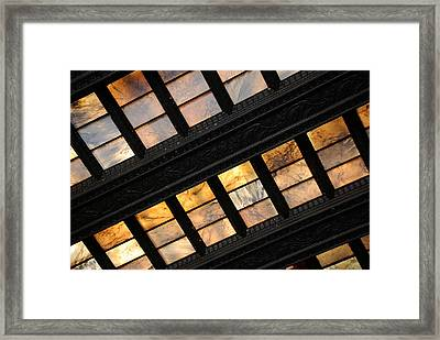 Lincoln Memorial Stained Glass Framed Print