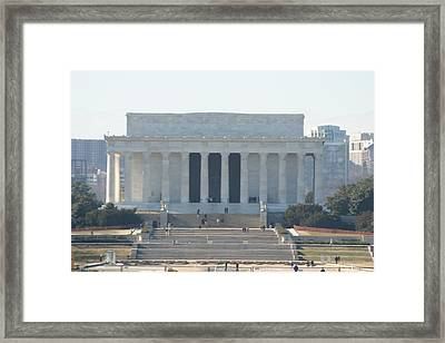 Lincoln Memorial - Washington Dc - 01131 Framed Print
