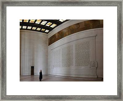 Lincoln Memorial - Washington Dc - 01132 Framed Print