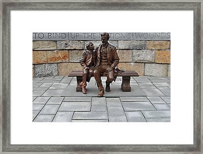 Lincoln Mounment At Civil War Tredegar Iron Works Framed Print