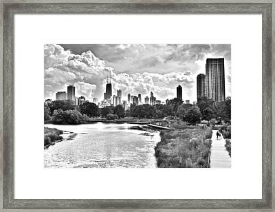 Lincoln Park Black And White Framed Print by Frozen in Time Fine Art Photography