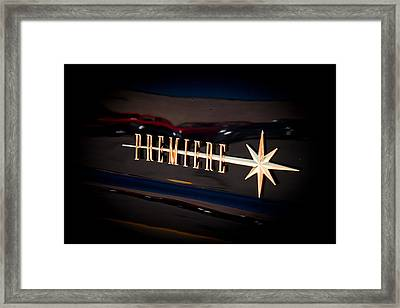 Framed Print featuring the photograph Lincoln Premiere Emblem by Joann Copeland-Paul