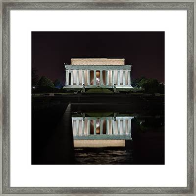 Lincoln Reflection Framed Print