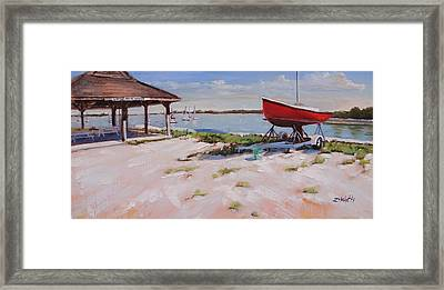 Lincoln Sailing Center Framed Print by Laura Lee Zanghetti