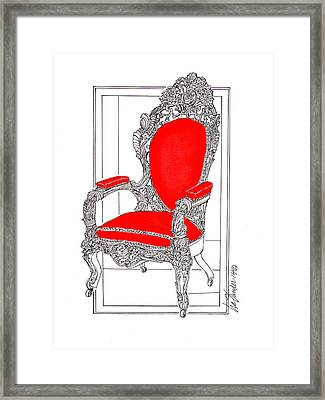 Lincoln Sat Here Framed Print