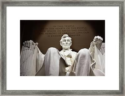 Lincoln Statue, Washington Dc Framed Print