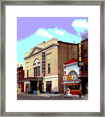 Lincoln Theatre Framed Print