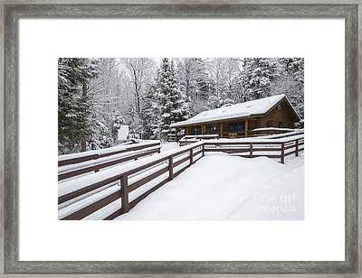 Lincoln Woods Ranger Headquarters - Lincoln New Hampshire Usa Framed Print by Erin Paul Donovan