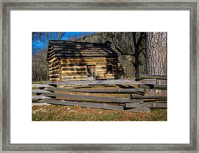 Lincoln's Boyhood Home Framed Print