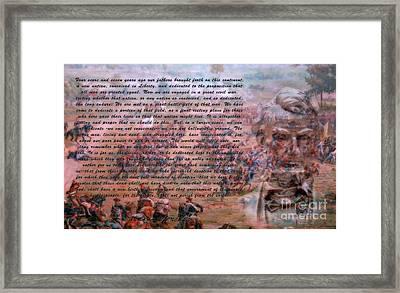 Lincoln's Gettysburg Address Framed Print
